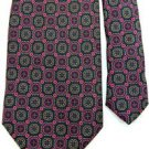 #1A MARSHALL FIELD'S Navy Blue PURPLE Brown NeckTIE NECKTIE Krawatte Cravat