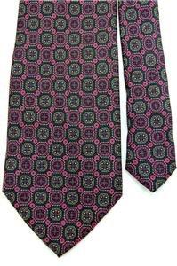 #1A MARSHALL FIELD'S Navy Blue PURPLE Brown NeckTIE NECKTIE Krawatte Cravat