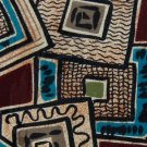 #1A ZIANETTI ART DECO MAROON TEAL OLIVE SILK MEN NECK TIE