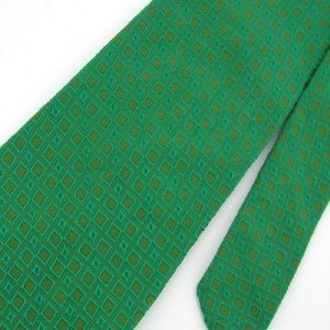Vintage Wembley Texture Green Gold Square 60s Men Neck Tie Necktie  #EV
