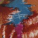 J T BECKETT ABSTRACT BROWN RED BLUE SILK NECK TIE Men Designer Tie EUC