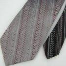 Vtg Wemlon Wembley Zig Zag Dots Maroon Gray Wht Texture 60s 70s Men Neck Tie #VE