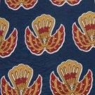 KRIZIAUOMO ITALY NavyBlue RED KHAKI TRIBAL MEN NECK TIE Men Designer Tie EUC
