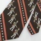 Vtg Sears ROMAN EMPIRE Warrior  Soldier Star Gun Stripe Brn 60s 70s Neck Tie #VE