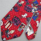 #1A New Charles' Patrick Christmas Santa Holiday Gift Candle Ornament Neck Tie