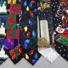 3 Christmas Xmas Holiday Silk Men's Ties Necktie Neck Tie Lot #P19P