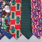 2 Christmas Xmas Holiday Silk Men's Ties Necktie Neck Tie Lot #LO14