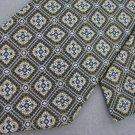 Vtg Thick Wide Geometric Art Deco Rust Blue Texture 70s 60s Mens Neck Tie #VE