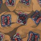 New ROBERT TALBOTT TAN BLUE RED FLORAL MEN NECK TIE Men Designer Tie