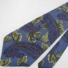 #1A LIBERTY of  LONDON Necktie LEAF FLORAL PAISLEY PURPLE OLIVE Men Neck Tie