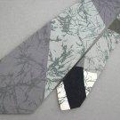 Vtg Mr. Syd El Syd Collection Gray Cotton Wide 70s 60s 1970 Mens Necktie Tie #VE