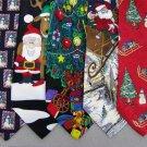 7 Christmas Xmas Holiday Silk Men's Ties Necktie Neck Tie Lot #P23 Excellent