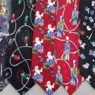 7 Christmas Xmas Holiday Silk Men's Ties Necktie Neck Tie Lot #P2 Excellent