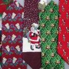7 Christmas Xmas Holiday Silk Men's Ties Necktie Neck Tie Lot #P1 Excellent