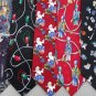 3 Christmas Xmas Holiday Silk Men's Ties Necktie Neck Tie Lot #P2