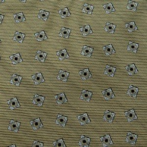 #1A HATHAWAY Tie WOVEN OLIVE BLACK GREY SILK Men Neck Tie Corbata Cravatta