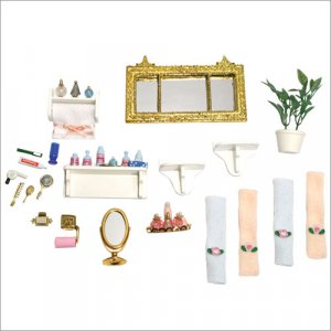 Melissa and Doug  - Dollhouse Bathroom Accessories