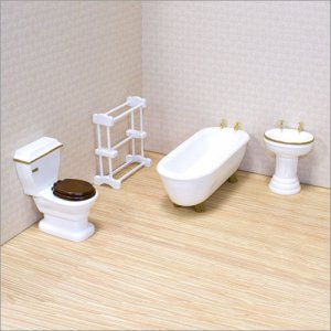 Melissa and Doug - Dollhouse Bathroom Furniture
