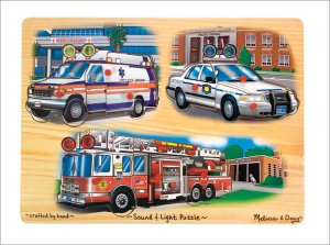 Melissa and Doug - Emergency Vehicles Light and Sound Puzzle