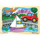 Melissa and Doug -Transport Trio Layered Puzzle