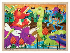 Melissa and Doug - Prehistoric Sunset Wooden Jigsaw Puzzle