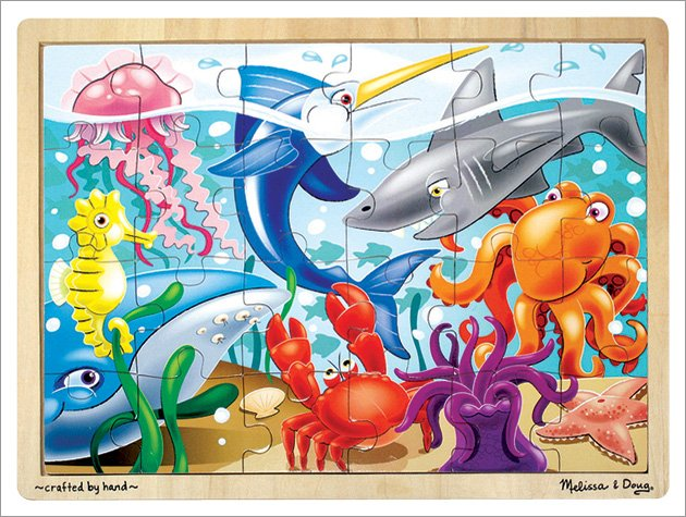 Melissa and Doug - Under The Sea Wooden Jigsaw Puzzle