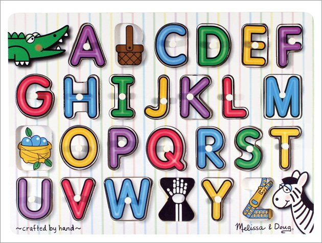 Melissa and Doug - See-Inside Alphabet Peg Puzzle