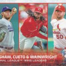 Clayton Kershaw-Johnny Cueto-Adam Wainwright 2015 Topps #85 Baseball Card