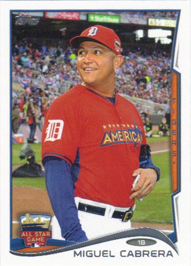 Miguel Cabrera 2014 Topps Update All Star #US-53 Detroit Tigers Baseball Card