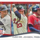 Michael Cuddyer-Chris Johnson-Freddie Freeman 2014 Topps #237 Baseball Card