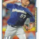 Francisco Rodriguez 2014 Topps Update #US-31 Milwaukee Brewers Baseball Card