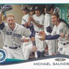 Michael Saunders 2014 Topps #224 Seattle Mariners Baseball Card
