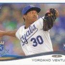 Yordano Ventura 2014 Topps Rookie #265 Kansas City Royals Baseball Card