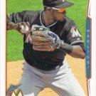 Adeiny Hechavarria 2014 Topps #41 Miami Marlins Baseball Card
