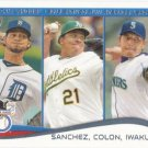 Anibal Sanchez-Bartolo Colon-Hisashi Iwakuma 2014 Topps #117 Baseball Card