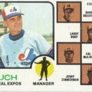 Gene Mauch 1973 Topps #377 Montreal Expos Baseball Card