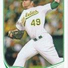 Brett Anderson 2013 Topps #347 Oakland Athletics Baseball Card