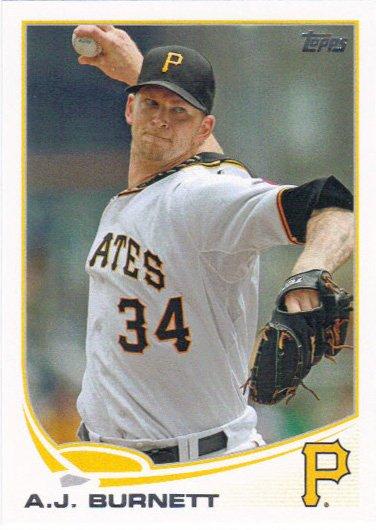 A.J. Burnett 2013 Topps #234 Pittsburgh Pirates Baseball Card