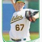 Dan Straily 2013 Topps #648 Oakland Athletics Baseball Card