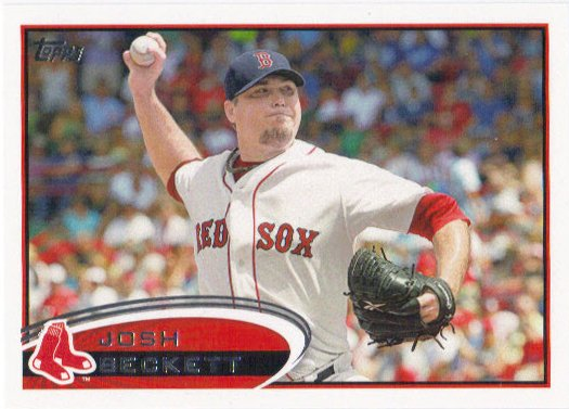 Josh Beckett 2012 Topps #648 Boston Red Sox Baseball Card