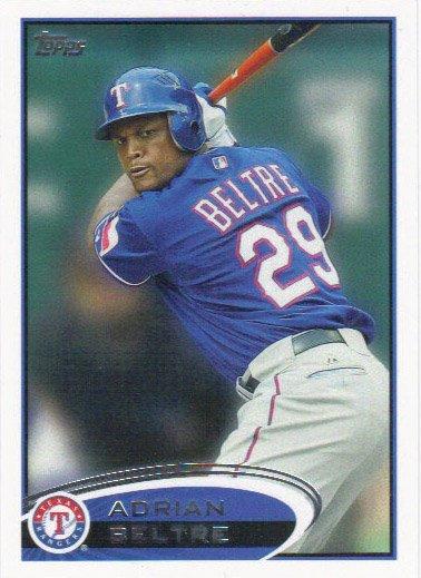 Adrian Beltre 2012 Topps #310 Texas Rangers Baseball Card