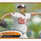 Wei-Yin Chen 2012 Topps Rookie #432 Baltimore Orioles Baseball Card