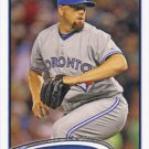 Steve Delabar 2012 Topps Update #US147 Toronto Blue Jays Baseball Card