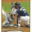 George Kottaras 2012 Topps #243 Milwaukee Brewers Baseball Card