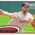 Justin Masterson 2012 Topps #205 Cleveland Indians Baseball Card