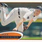 Max Scherzer 2012 Topps #162 Detroit Tigers Baseball Card