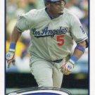 Juan Uribe 2012 Topps #438 Los Angeles Dodgers Baseball Card