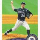 Aaron Cook 2011 Topps #230 Colorado Rockies Baseball Card