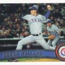 Derek Holland 2011 Topps #413 Texas Rangers Baseball Card