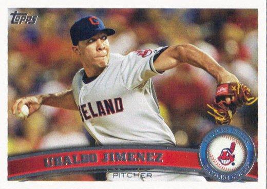 Ubaldo Jimenez 2011 Topps Update #US108 Cleveland Indians Baseball Card